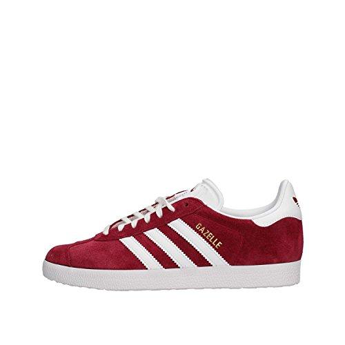 Adidas Gazelle, Zapatillas Hombre, Rojo (Collegiate Burgundy/Footwear White/Footwear White 0), 42 EU
