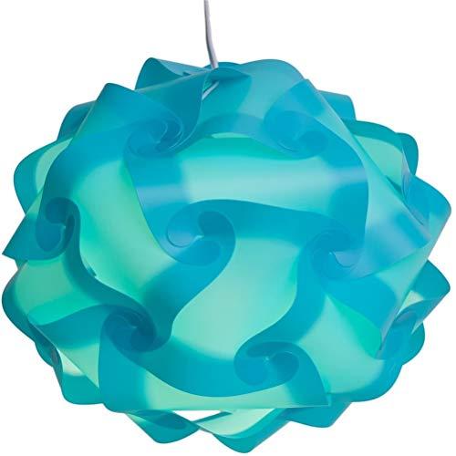 Kohyum DIY lámpara de Techo de la lámpara del Rompecabezas - lámpara de Pantalla de la lámpara Colgante - Juego con Cable de Montaje en el Techo Enchufe E27 - lámpara de Rompecabezas