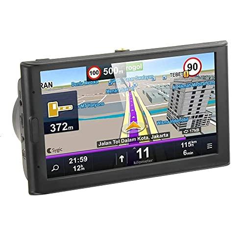 HYCy Navegador de Pantalla de Contacto de 7 Pulgadas Quad Core 8GB-256MB Dispositivo GPS Navi Mapas incorporados y 2 Altavoces