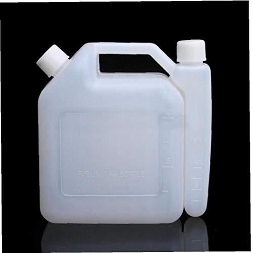 Zonfer 2l Öl Mischflasche Tank 2 Stroke Für Kettensägen Trimmer 01.25 50: 1 Für Kettensägen Rasenmäher Linie Strimmers