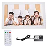 Smart Digital Picture Frame 18 Inch, 16:9 1366 * 768 Resolution, with Electronic Clock, Electronic Calendar Function, Supports AV/MPG/MP4/MP3/JPG/JPEG(White)