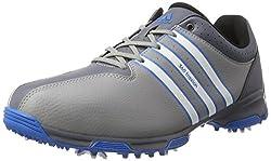 adidas Men's 360 Traxion WD Golf Shoes, Black (Core Black / White / Iron Metallic), 43 1/3 EU