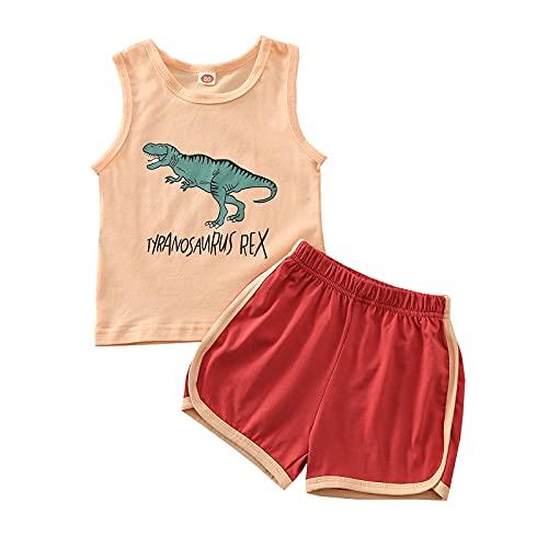 Conjunto de ropa de verano para bebé y niña, unisex, recién nacido, manga corta, mameluco, rosso, 12-24 meses