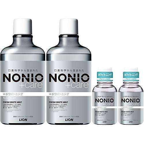 NONIO(ノニオ) プラス ホワイトニング [医薬部外品] デンタルリンス セット 600ml×2+ミニリンス80ml×2