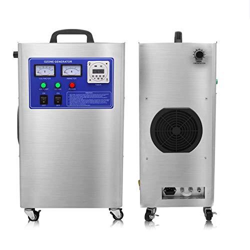 Steeler Purificatore d'Aria Professionale O3 per generatore di ozono da Laboratorio 12g per casa, Ufficio, Hotel, Auto, ristoranti, Bar Pulizia Industriale
