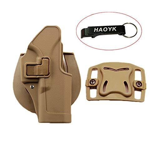 haoYK Taktische Airsoft Pistole Concealment Ziehen Rechtshänder Paddle Gürtel Holster Pouch für Glock 17 19 22 23 31 32 (DE)
