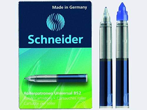 Schneider 3er Pack 5 x Tintenroller-Minen 852 blau