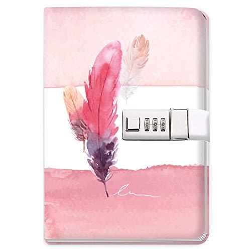 Trötsch Tagebuch mit Zahlenschloss Feather: Notizbuch Bullet Journal