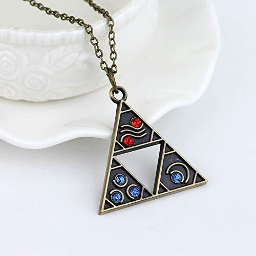 NA The Legend of Zelda Collar Gate of Time Hyrule Historia Emblema Triforce Colgante Collar Accesorios de joyer¨ªa de Moda