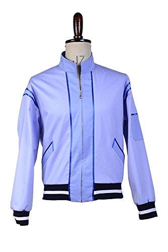 Arbeitsjacke Cosplay Kostüm Herren Blau M