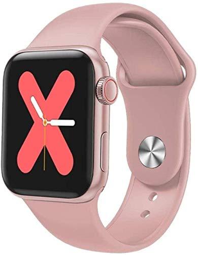 Reloj inteligente de 1,3 pulgadas con pantalla a color de la pulsera inteligente de monitoreo de la salud de la moda con pantalla táctil reloj deportivo exquisito-blanco uso diario/verde-rosa