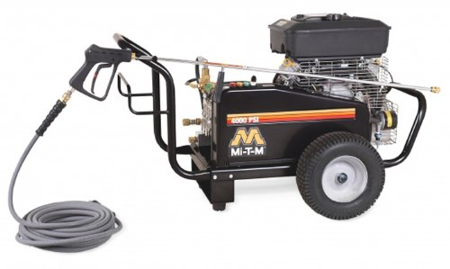 Mi-T-M CW-4004-5MV0 CW Gasoline Series Cold Water Belt Drive, 480cc Vanguard OHV Electric Start Gasoline Engine, 4000 PSI Pressure Washer