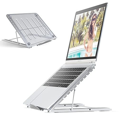 JUMKEET Laptop Stand,Foldable Portable Ventilated Desktop Laptop...