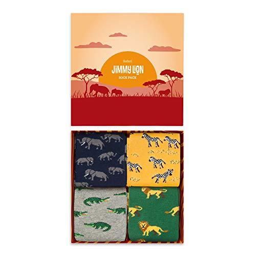 Jimmy Lion Packs de Calcetines Safari Pack para Hombre y Mujer Talla 41-46. Media Caña en algodón peinado.