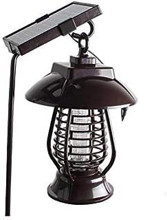 Delaspe Lámpara de Emergencia Solar para Matar Mosquitos Lámpara de insecticida LED Recargable, Adecuada para jardín, Interior y Exterior