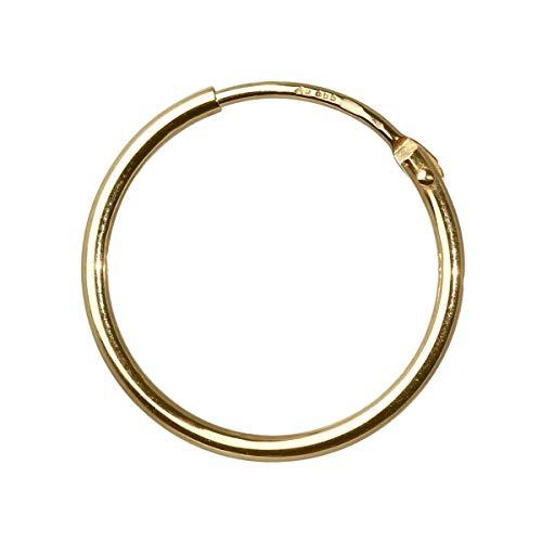 NKlaus 585 echt GOLD EINZEL HERREN Creole Ohrring Ohrschmuck Ohrhänger 17,5 mm 1754