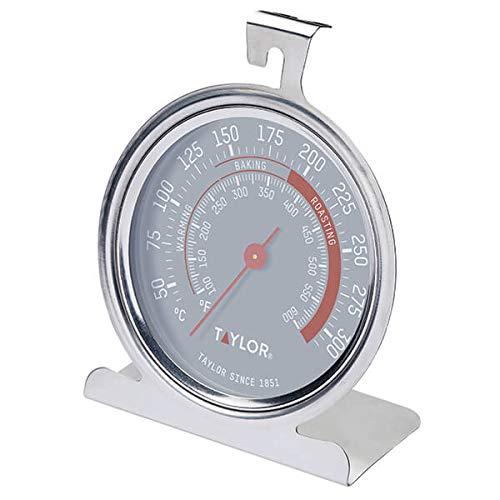 Taylor Pro Termómetro para Horno, Indicador de Temperatura Multifuncional Preciso para Hacer Barbacoas o Cocinar, Resistente a Temperaturas de hasta 300ºC, Esfera de Fácil Lectura, Acero Inoxidable