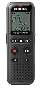 Philips Grabadora de Voz Digital Portátil DVT1150 | 4GB | Sonido HD | 44h de grabación | Activación por Voz | Conexión Plug & Play WinDs-MacOS