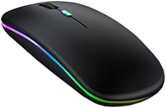 S & E TEACHER'S EDITION LED Wireless Mouse, Matte Black, Slim Rechargeable Wireless Silent Mouse, 2.4G Portable USB Optica...