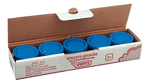 Jovi 8412027003247 - Estuche tempera 5 botes 35ml, color azul cyan