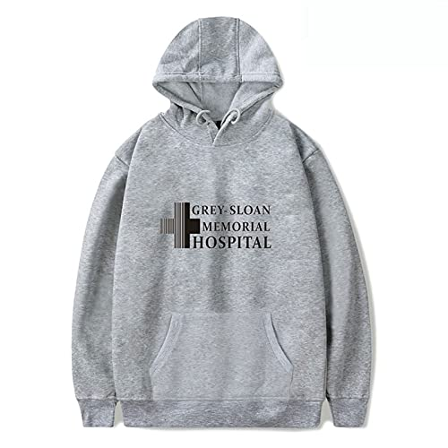 YLWXYA Grey's Anatomy Sudadera con Capucha Unisex Hoodie Manga Larga Casual con Bolsillo Imprimir Hooded Sweater (Color : Gray, Size : 4XL)