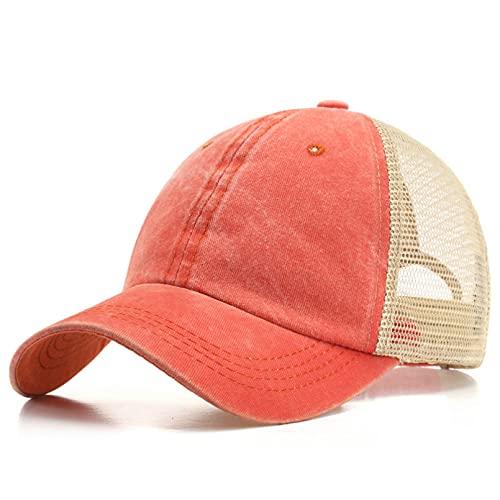 gorra Gorras Beisbol Nueva gorra de béisbol para mujeres y hombres, sombrero para el sol de primavera y verano, sombrero Snapback a la moda, sombreros de cola de caballo casuales para niñas, Unisex,S