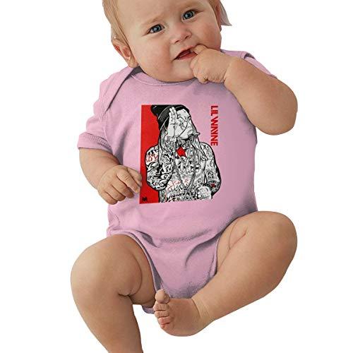 EmmanuelHarrod Lil Wayne Unisex Infant Baby Sport Jersey Bodysuits 0-24 Months 0-3M Pink