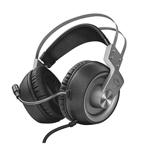 Trust GXT 4374 Ruptor Confortevoli Cuffie Gaming Over-Ear con Unità Altoparlante da 50 mm, PC, PS4, Xbox One, Switch, Grigio