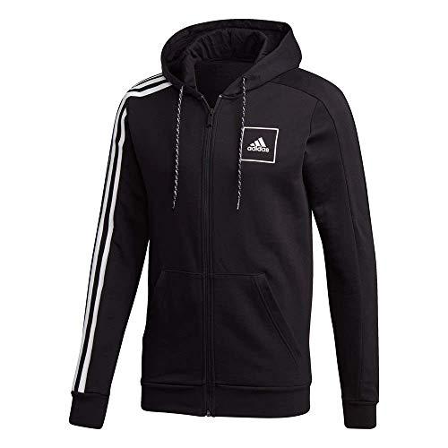 adidas M 3S Bande FZ Sweat à Capuche Homme Noir FR: XL (Taille Fabricant: XL)