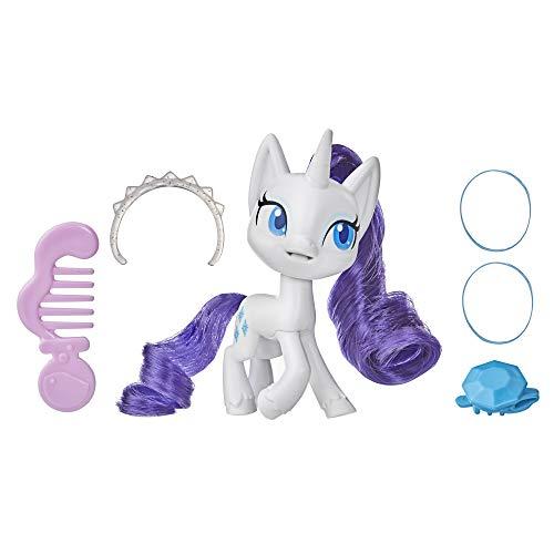 My Little Pony Rarity Potion Pony Figura – Juguete de poni blanco de 7.6 cm con pelo cepillado, peine y 4 accesorios sorpresa