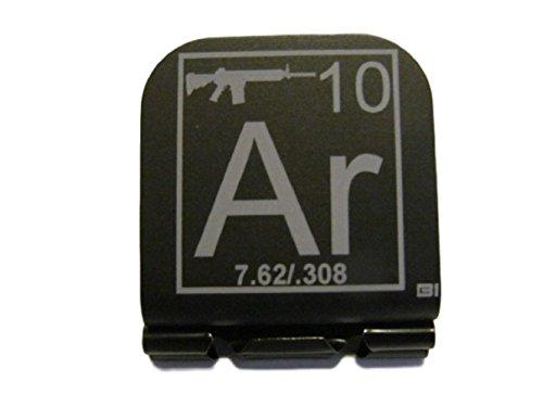 AR-10 Periodic Table of Elements Tile Laser Etched Hat Clip Brim-it Black