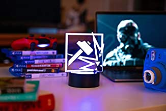 Six Siege LED Lamp - Sledge Operator - Rainbow Six Siege HomeDecor for The Bedroom or Gaming Den - Acrylic and Durable