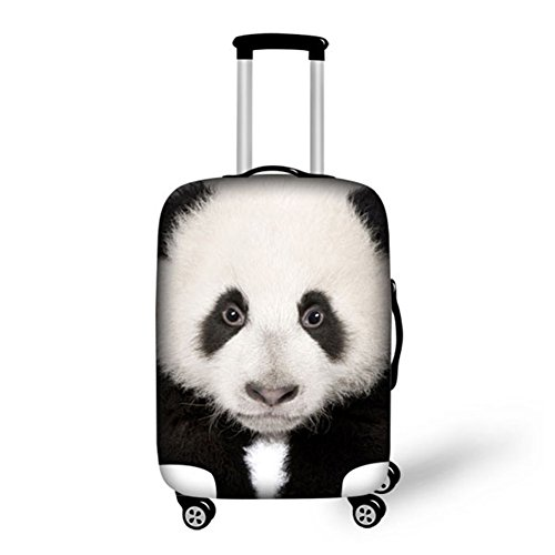 chaqlin Chinese Panda Design Travel Fashion Luggage Cover Cute Suitcase Protector Dust-Proof Case 26' 28'