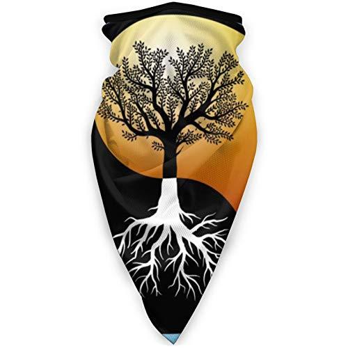 BEHDIJ Pasamontañas Máscara de deportes a prueba de viento bufanda para mujeres hombres al aire libre cómodo y transpirable cuello polaina diadema bufanda Yin Yang chino árbol de la vida