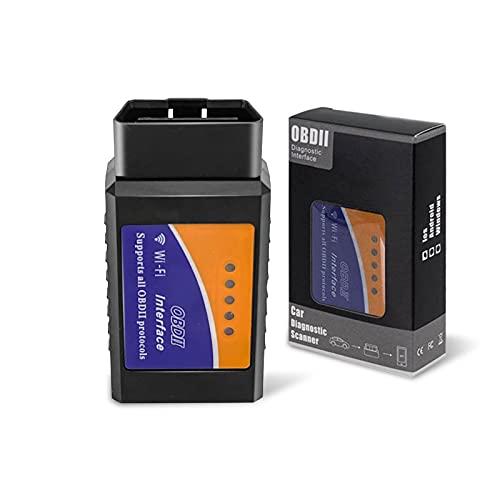 Escáner inalámbrico WiFi OBD2 Adaptador de escáner OBD II Escáner de diagnóstico Herramienta de escaneo Compruebe la luz del motor para dispositivos iOS y Android para vehículos 1996+