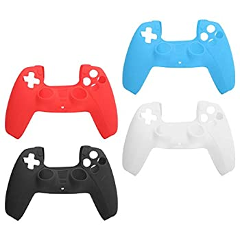 Game Gamepad Handle Anti‑Squeeze Protective Sleeve 4Pcs,Fit for PS5 Gamepad Gift for Game Lovers