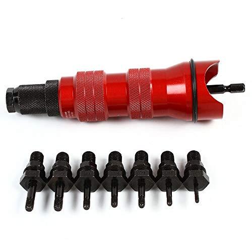 2,4–6,4 mm Nietmutternaufsatz Profi Nietadapter Nietaufsatz Nietwerkzeug Akkuschrauber