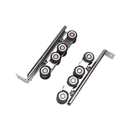 Puerta corredera de balcón con 8 ruedas, rodillo de puerta para colgar, rueda silenciosa, rueda de aleación de zinc, ruedas de 25 mm de diámetro de la rueda, piezas de repuesto