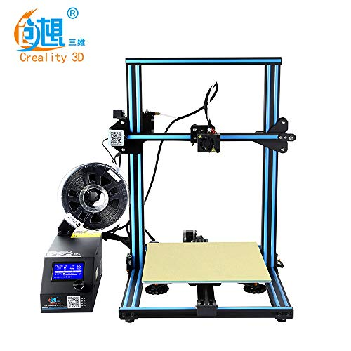 Creality Pro 3D Printer CR-10 Pre-assembled Large Print Size DIY Set, Works with PLA, TPU, Copper, Wood With Excellent Print Quality Blue