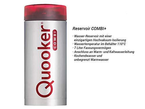 Quooker COMBI+ 2.2 Fusion Square Kochendwasserhahn / Kochendwasser-Armatur & Mischbatterie / verchromt glänzend CHR - 4