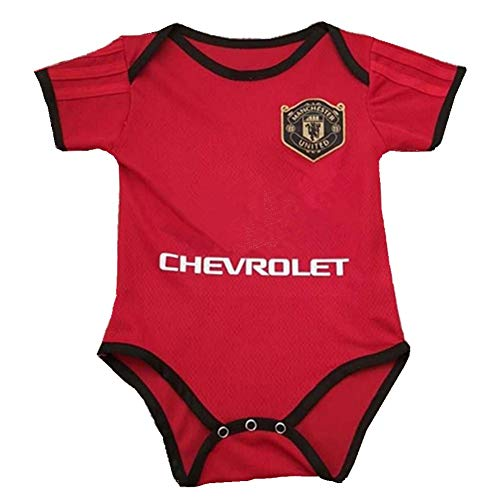 Manchester United Infant Cotton Soccer Bodysuits for 9-18 Months Infant OneSize Red