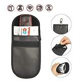 YOTINO 2PCS Keyless Go Schutz Auto Schlüssel Signal Blocker Tasche SchlüsselmäppchenCar Key SafeAbschirmung Schlüsseltasche RFID Schutzhüllen für Kreditkarten RFID/WLAN/Blocker(2 Stück)