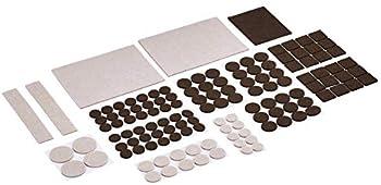 Amazon Basics Felt Furniture Pads, Beige and Brown (133-Piece)