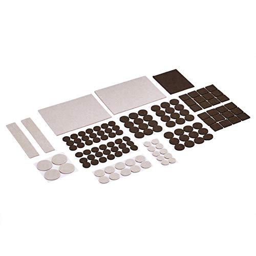 Amazon Basics - Möbelgleiter aus Filz, Beige und Braun, 133-teiliges Set