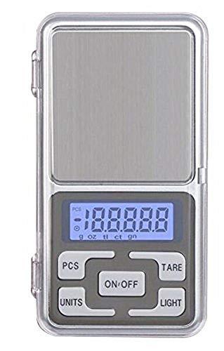 Eidyer Báscula de Bolsillo, con Tapa 200/0.01g Función Tara, Pantalla LCD fácil de Leer, pequeño Volume para joyería de Cocina, Drogas, té, Polvo de Hornear, café y Otros (200 x 0.01g)