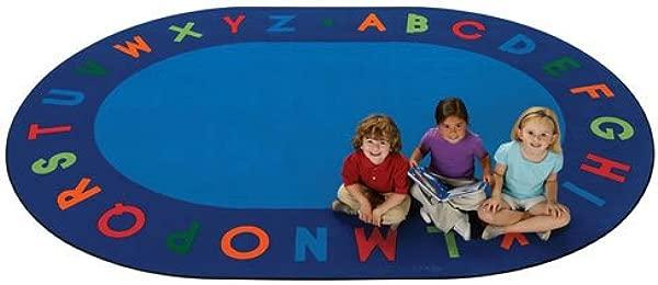 Carpets For Kids 2506 Circletime Alphabet Primary Kids Rug Rug Size Oval 6 X 9