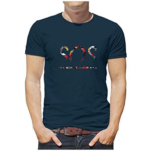 Herren SOS NATO Phonetisches Baumwoll-T-Shirt Cool Hautfreundlich - Unterhemden for Radfahren Navy XXL