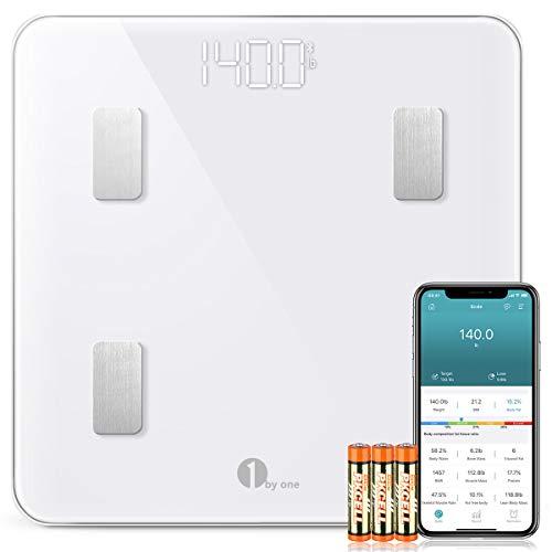 1 BY ONE Wireless Smart Scale, Báscula Corporal Digital inalámbrica con App...