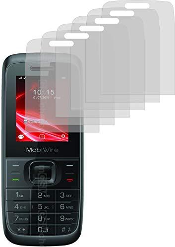 4ProTec I 6X Schutzfolie MATT passexakt für MobiWire Elki - Displayschutzfolie Schutzhülle
