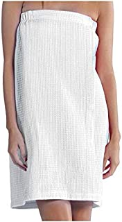 BY LORA - Toalla de baño ligera para mujer, color blanco, pequeño y mediano